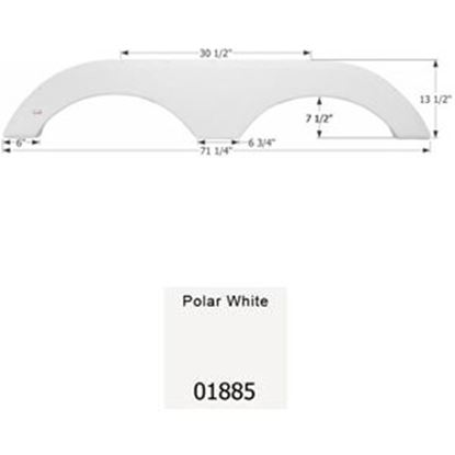 Picture of Icon  Polar White Tandem Axle Fender Skirt For Gulfstream Brands 01885 15-0431