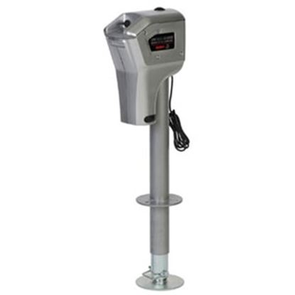 Picture of Husky Towing Super Brute Bright Silver 4000 Lb Electric Trailer Jack 82084 15-1460