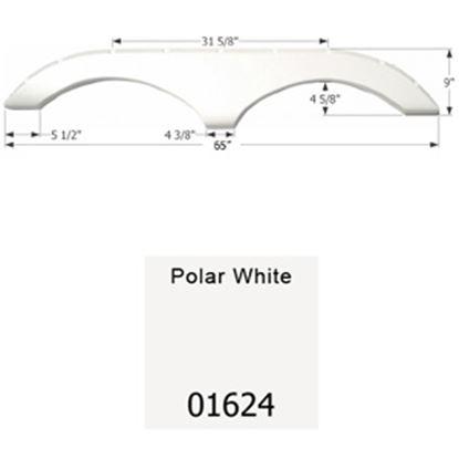 Picture of Icon  Polar White Tandem Axle Fender Skirt For Pilgrim Brands 01624 15-1627