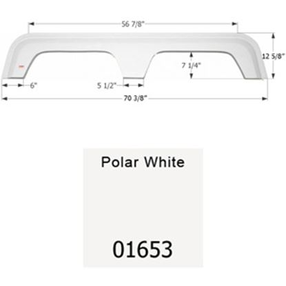 Picture of Icon  Polar White Tandem Axle Fender Skirt For Coachmen Brands 01653 15-1638