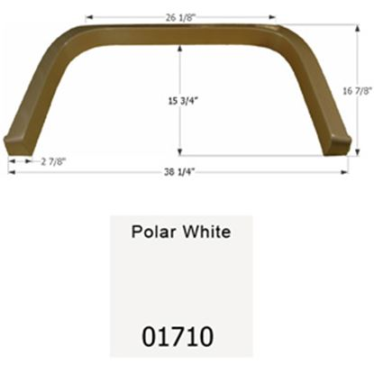 Picture of Icon  Polar White Single Axle Fender Skirt For Coachmen Brands 01710 15-1647