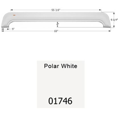 Picture of Icon  Polar White Tandem Axle Fender Skirt For KZ Brands 01746 15-1650