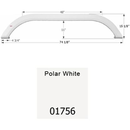 Picture of Icon  Polar White Tandem Axle Fender Skirt For Carriage Brands 01756 15-1651