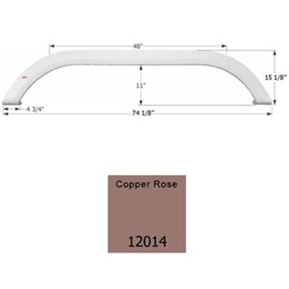 Picture of Icon  Copper Rose Metallic Tandem Axle Fender Skirt For Various Carriage Brands 12014 15-1762