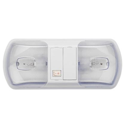 Picture of Brilliant Light (TM)  White w/Double Clear Lens Ceiling Mount Interior Light w/Switch 016-BL3001 18-0127