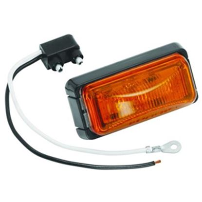 "Picture of Bargman  Amber 2.6""x1.2""x1.03"" LED Side Marker Light 42-37-402 18-0455"