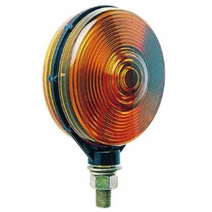 """Picture of Peterson Mfg.  Amber Double-Face Stop/Tail/Turn Light w/ 1/2"""" Stud Mount V313AA 18-0512"""