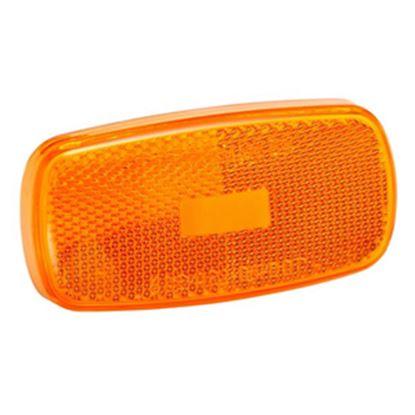 Picture of Bargman  Amber Snap-On Side Marker Light Lens For Bargman 59 Series 34-59-012 18-0588