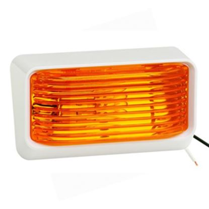 Picture of Bargman 78 Series Amber #78 White Base Porch Light 34-78-516 18-1005