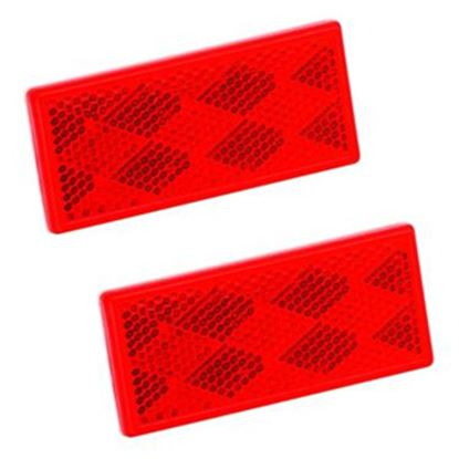 """Picture of Bargman  3-1/4""""x1-1/2"""" Rectangular Red Stick-On Reflector 74-71-180 18-1064"""