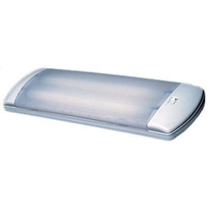 Picture of Arcon Optic Series White w/Clear Lens Fluorescent 30W Interior Light w/Switch 13813 18-1747