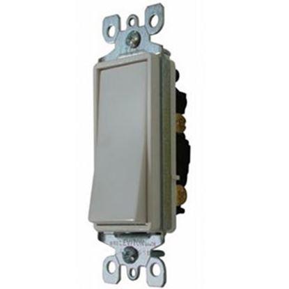 Picture of Diamond Group  Ivory 120-277V/ 15A Single Pole Rocker Switch DGSC58VP 19-1391