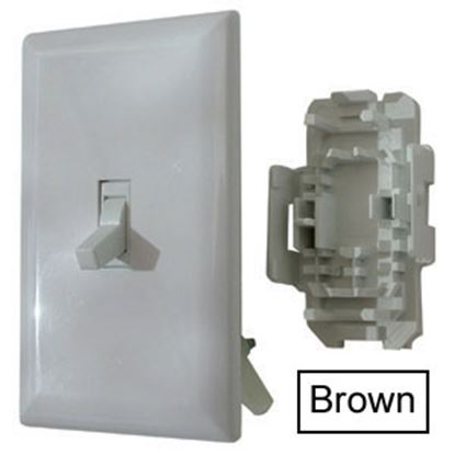 Picture of Diamond Group  Brown 125V/ 15 Amp 2 Pole Toggle Switch DG151BRVP 19-1398