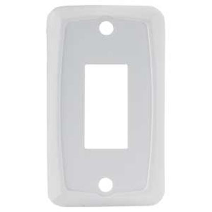 Picture of JR Products  5-Pack White Single Opening Multi Purpose Switch Faceplate 12841-5 19-1915