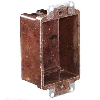 """Picture of RV Designer  2-1/2""""W x 3-1/4""""H Vertical Single Gang Electrical Box S891 19-2438"""