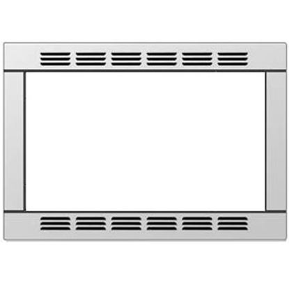 """Picture of Contoure  20-1/2""""W x 15""""H Stainless Steel Microwave Oven Trim Kit RV-TRIM9S 19-9194"""