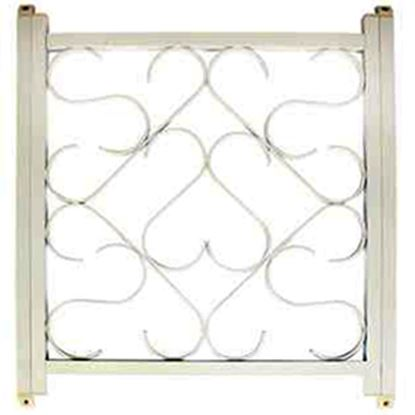 """Picture of Camco  20"""" To 32"""" White Aluminum Deluxe Scroll Screen Door Grille 43997 20-0089"""