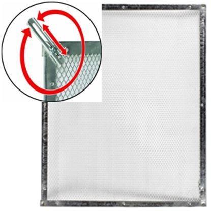 """Picture of Camco  20"""" To 29"""" Raw Aluminum Standard Screen Door Grille 43980 20-0092"""