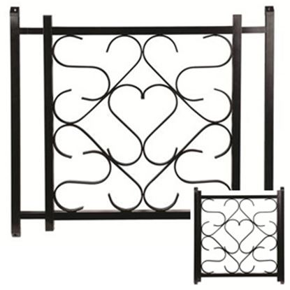 """Picture of Camco  20"""" To 32"""" Black Aluminum Deluxe Scroll Screen Door Grille 43993 20-0164"""