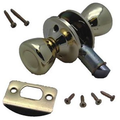 Picture of AP Products  Polished Brass Dead Bolt Entry Door Latch For Passage Door 013-203 20-0581