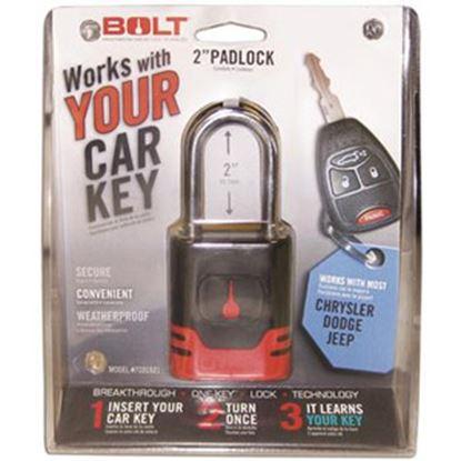 Picture of BOLT Locks  Steel Key Padlock For Chrysler/Jeep Model Keys 7018520 20-0864