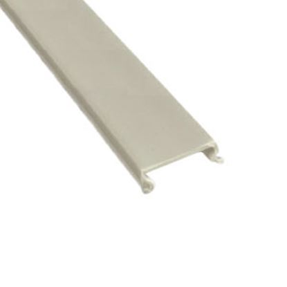 """Picture of AP Products  5-Pack White Plastic 5/8""""W X 8'L Trim Molding Insert 011-361-5 20-1118"""