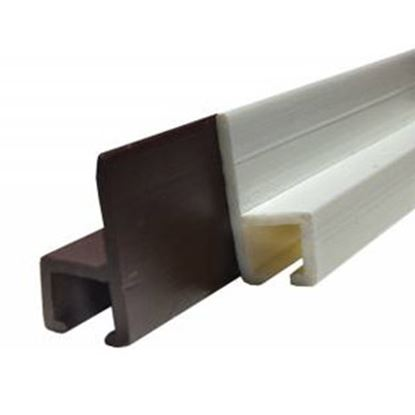 Picture of JR Products  Brown Plastic Window Curtain Track 80321 20-1161