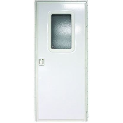 "Picture of Lippert  Polar White Left Opening 24""W x 70""H Square Entry Door V000042628 20-1201"