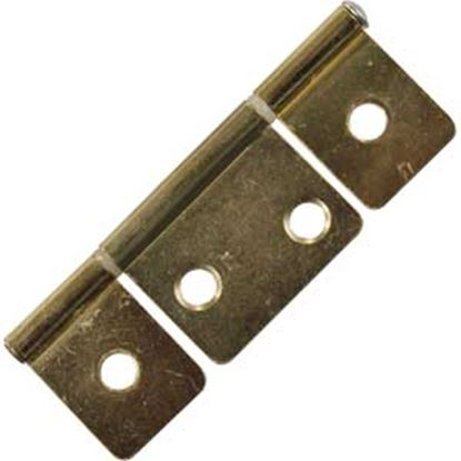 "Picture of JR Products  2-Pack Brass 3-1/2"" Non-Mortise Hinge 70625 20-1905"