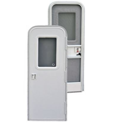 """Picture of AP Products  Polar White w/ Window Frame RH 26""""W x 72""""H Radius Entry Door 015-267231 20-4045"""