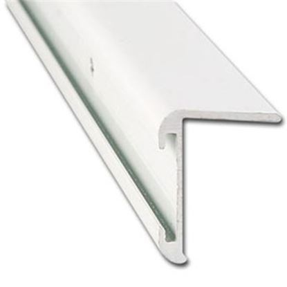 "Picture of AP Products  31/32""W x 16'L x 1-1/4""H Polar White Aluminum Long Leg Insert Corner Trim 021-85201-16 20-6980"