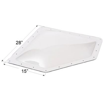 """Picture of Icon  4""""H Bubble Dome Neo Angle Clear PC Skylight w/15"""" X 28"""" Flange 01866 22-0027"""