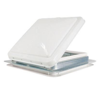 "Picture of Camco  White 14""x14"" Aluminum Frame Roof Vent 40480 22-0060"