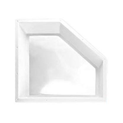 "Picture of Specialty Recreation  4""H Bubble Dome Neo Angle White PC Skylight w/24"" X 11"" Flange NN208 22-0076"