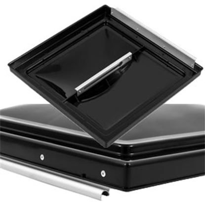 "Picture of Camco  Black Polypropylene 14"" x 14"" Elixir Style Roof Vent Lid 40170 22-0412"