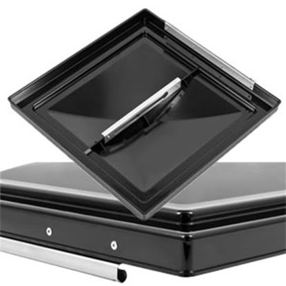 "Picture of Camco  Black Polycarbonate 14"" x 14"" Ventline Style Roof Vent Lid 40178 22-0431"