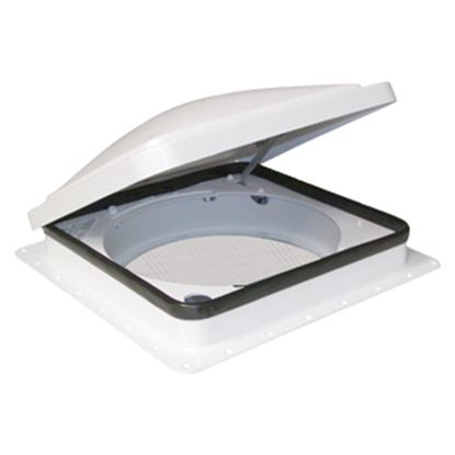 "Picture of Fan-Tastic Vent 900 Smoke 14""x14"" Polyethylene Frame Roof Vent 800900 22-0452"