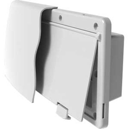 """Picture of JR Products Endura Polar White 12-9/16""""W X 5-7/8""""H X 1-1/2"""" Flange Wall Vent 50035 22-0677"""