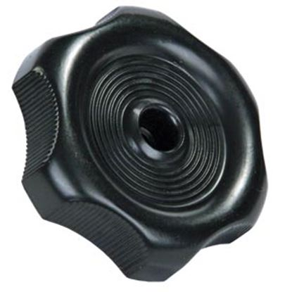 "Picture of JR Products  0.81"" Black Plastic Window Crank Knob 20345 23-0575"