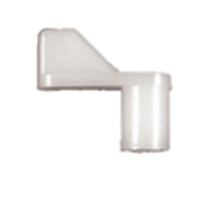 """Picture of Strybuc  1/4"""" Offset Size White Nylon Window Screen Clip 496C 23-1200"""