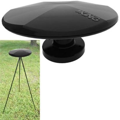 Picture of King  Black Omni-Directional Tri-Pod Mount Broadcast TV Antenna OA1501 24-0334