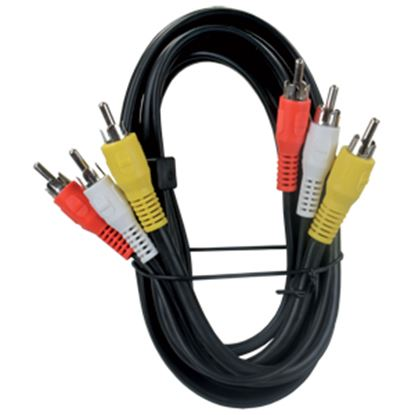 Picture of JR Products  Black 6' RCA/A-V Triple Cable 47935 24-0441