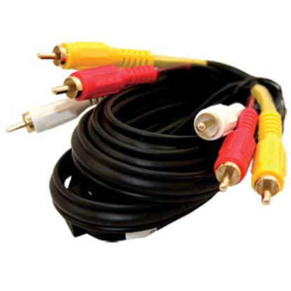 Picture of Jensen  12' Stereo Composite Video Cable JCAV12 24-3866