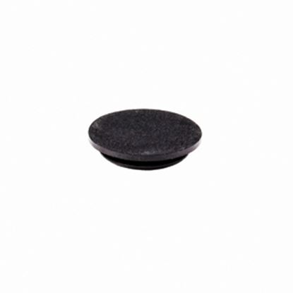Picture of Stromberg Carlson  Black Rubber Round Trailer Tongue Jack Plug 7145-225876 45-0388