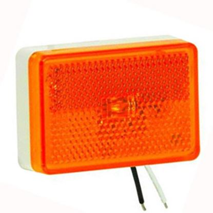 "Picture of Bargman  Amber 2.62""x1.83""x0.83"" LED Side Marker Light 47-222015 69-0342"