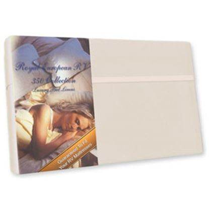 "Picture of Custom Recreation  Champagne Mist 350 TC 60"" x 80"" Queen Bed Sheet RV60X80/CM 69-1187"