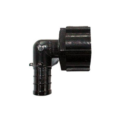 "Picture of EcoPoly Fittings  1/2"" PEX x 1/2"" FPT Swivel Nut Black Plastic Fresh Water 90 Deg Elbow 29816 69-5045"