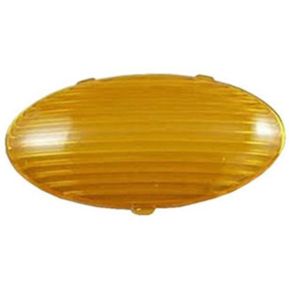 Picture of Gustafson  Amber Oval Lens For Gustafson Porch Light GSAM4047 69-5194