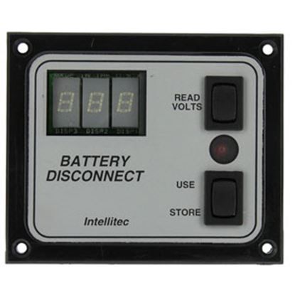 Picture of IntelliTEC  Black/Silver Battery Disconnect Switch Panel w/ On/ Off Indicator 01-00066-005 69-5345