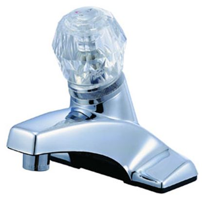 "Picture of Relaqua  Chrome w/Single Clear Knob 4"" Lavatory Faucet AL-4100RC 69-7076"